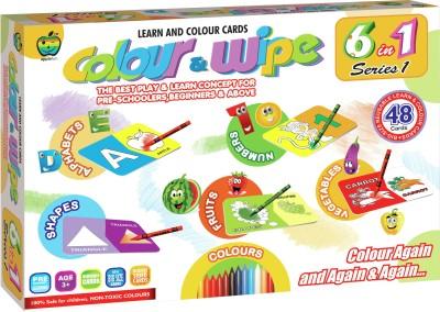 Applefun Colour & Wipe 6 in 1 Series 1