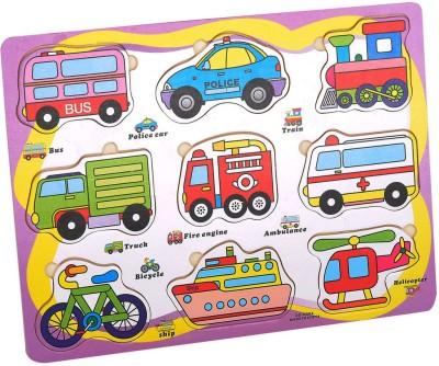 Priya Exports Vehicles Wooden Puzzle