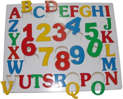 Little Genius English Alphabet Upper Case With Numbers
