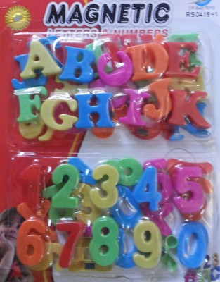 Mayatra's Magnetic Letters & Numbers(Multicolor)