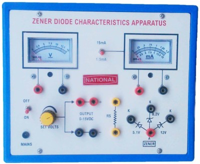NSAW Zener Diode Characteristics Apparatus With Two Meters(Multicolor)