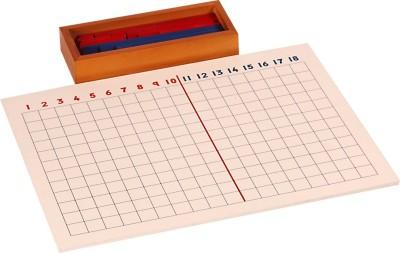 Kidken Montessori Addition Strip Board inc Strips Tray