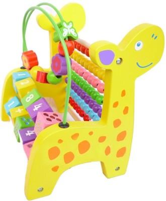MU YAYA Giraffe Wooden Abacus Activity & Counting Toy