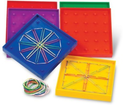 Learning Resources Double-Sided Assorted Geoboard