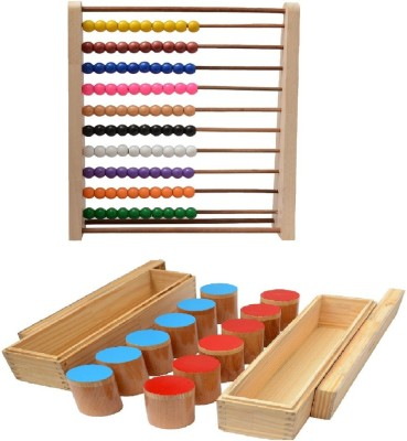 Aimedu Toy Combo Pack Of Wooden Sound Box And Counting Frame For Kids Learning - Kids Toys