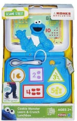 Hasbro Playskool Sesame Street Cookie Monster Learn & Crunch Lunchbox