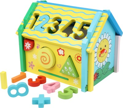 GoAppuGo Number and Shapes Learning Wooden Educational Hut
