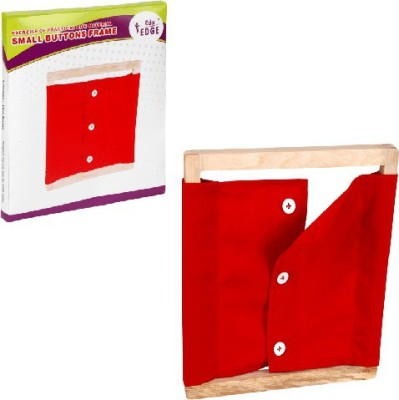 Eduedge Montessori Materials Exercises Of Practical Life - Small Buttons Frame