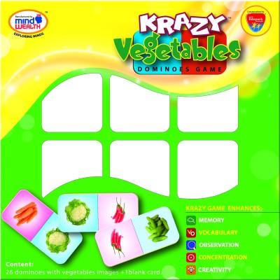 Mind Wealth Krazy Vegetables Dominoes Game