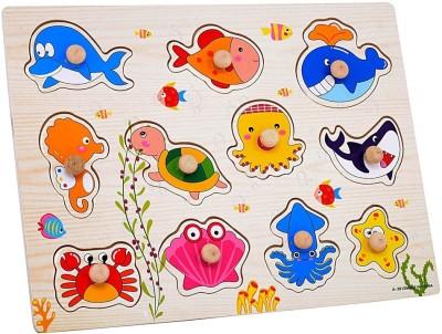 Priya Exports Sea Animals Puzzle With Knob