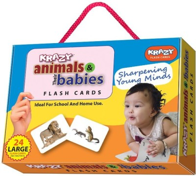 Mind Wealth Krazy Animals and Babies Flash Cards