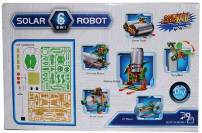 Cute Sunlight Solar Robot 6 In 1 Educational Toy Transform Into Different Model