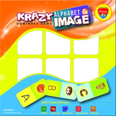 Mind Wealth Krazy Alphabet and Image Dominoes Game