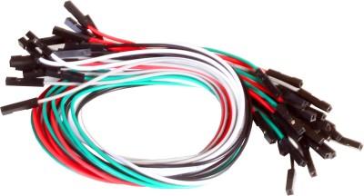 Robokits 1 Pin Dual Female Jumper Wire 25pcs Pack