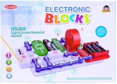 Planet of Toys Science Electronic Circuit Blocks - Create Exciting Projects (Big)
