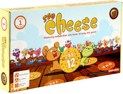Logic Roots Educational Board Game SAY CHEESE Master Multiplication With Ease Math Game