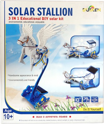 Duiken Solar Stallion, 3 in 1 Educational Solar Kit