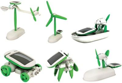 Emob Educational 6 In 1 Solar Power Energy Robot Toy Kit