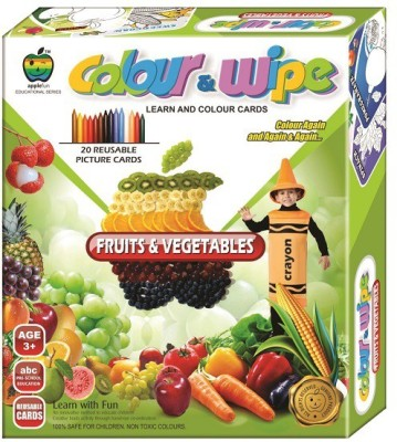 Applefun Colour & Wipe Fruits and Vegetables