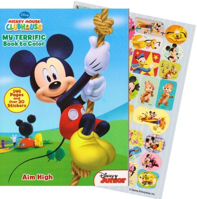Bendon Publishing Mickey Mouse Giant Coloring Book with Stickers