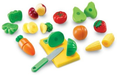Learning Resources Pretend & Play Sliceable Fruits &Veggies