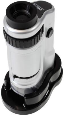 Zingalalaa Zoom Pocket Microscope with LED, 20-40x Magnification