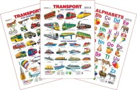 Spectrum Set of 3 Educational Wall Charts (Transport 1, Transport 2 & English Alphabets)