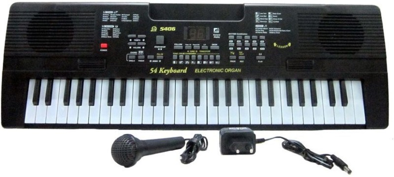 V.T. 54-Keys Electronic Keyboard with Microphone & Led Display Music Box