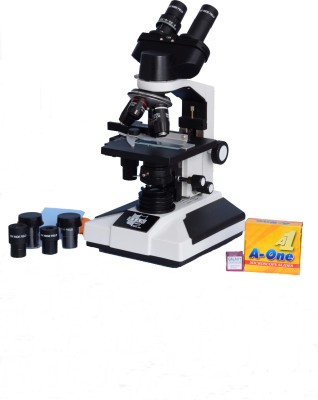 E.S.A.W Esaw Pathological Doctor Compound Student Binocular Microscope, 40x-1500x Mag., Led Illumination with Semi-Plan Achro Objectives and Kit(Containing 50 Blank Slides+Cover Slips+Cleaning Cloth+Dust Cover)