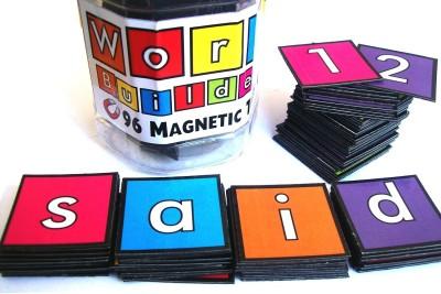 MFM Toys Word Builder Magnetic Tiles - Fridge Edition