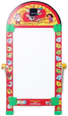 Creative Kids Kirat Small Reusable Chalk and Marker Writing Double-Side Board
