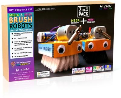 Be Cre8v Mega & Mini Brush Robot KIT 2-in-1 Pack