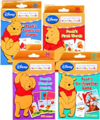 Disney Winnie the Pooh Learning Cards (Set of 4 Decks)