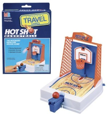 Hasbro Travel Hot Shot Basketball Game by Milton Bradley