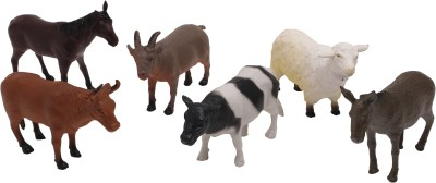Babytintin Farm animals (6 piece) with realistic features and looks