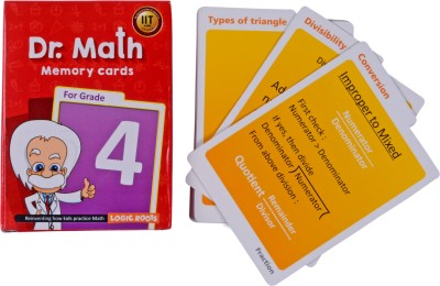 Logic Roots Dr Math (Grade 4) - Memory Flash Cards For Grade 4 Kids For Concepts, Clarity And Recall