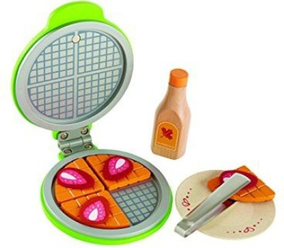 Hape Hape - Playfully Delicious - Instant Waffles Wooden Play Food Set(Multicolor)