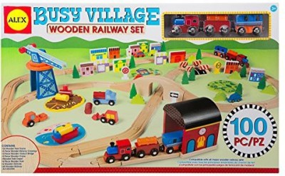 ALEX Toys ALEX Toys Busy Village Wooden Railway Set(Multicolor)