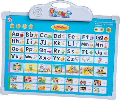 Montez 2in1 Playmat Kids Educational Learning Tablet and White Board