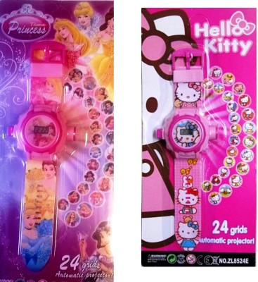 Shop & Shoppee Combo of Hello Kitty & Princess Projector Wristband - 24 Images