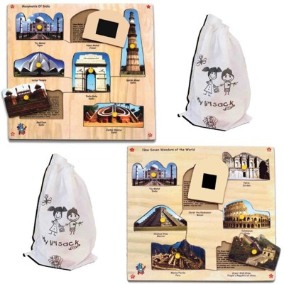 Skillofun MAGNETIC KING SIZE ID MONUMENTS + NEW SEVEN WONDERS(Multicolor)
