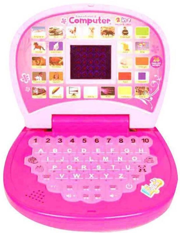 Turban Toys English Learner Mini Laptop(Pink)