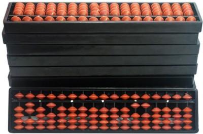 SAE FASHIONS Brown 17 Rod Abacus Kit Type 2 Set Of 10