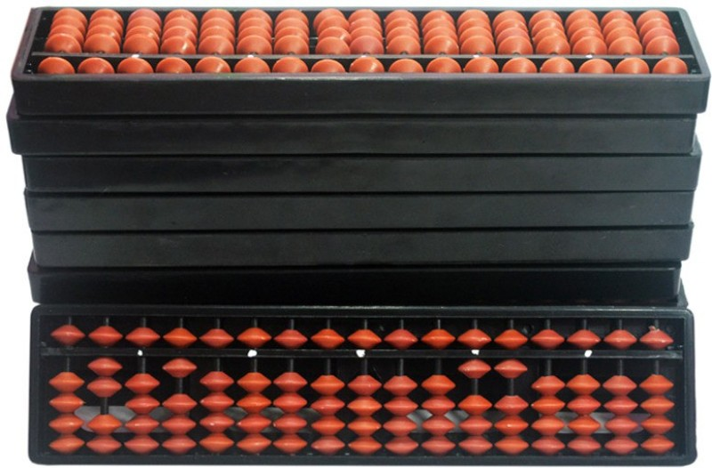 Sae Fashions Brown 17 Rod Abacus Kit Type 2 Set Of 10(Brown)