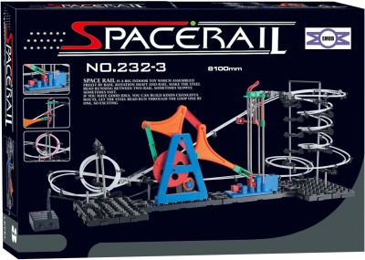 Emob Educational Game SpaceRail Marble with Steel Balls 8100 mm Long Never Ending RollerCoaster Learning 232-Level 3