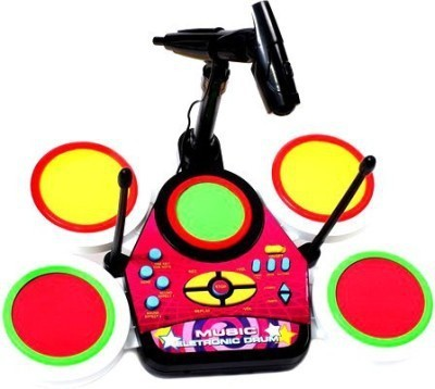Khareedi Electronic Junior Jazz Drum Beat Set With Mp3 Plug-In + Microphone + Pedal Mechanism + Adjustable Heights