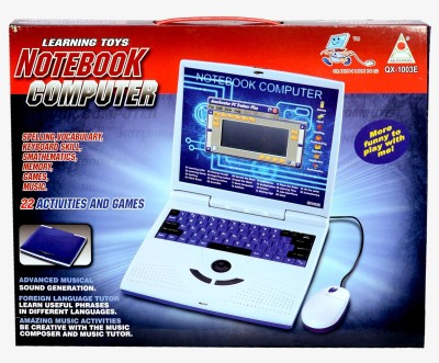 Planet of Toys Notebook Computer 22 Activities and Games (with Mouse)