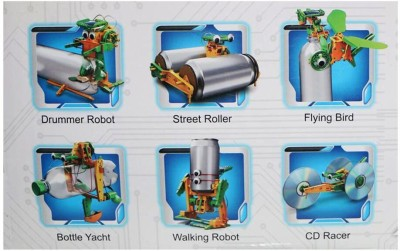 Emob 6 In 1 Solar Robot Educational Toy Transform Into Different Model