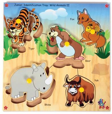 Skillofun Junior Identification Tray Wild Animals II