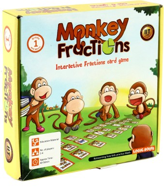 Logic Roots Learning card game MONKEY FRACTIONS Educational Math Game